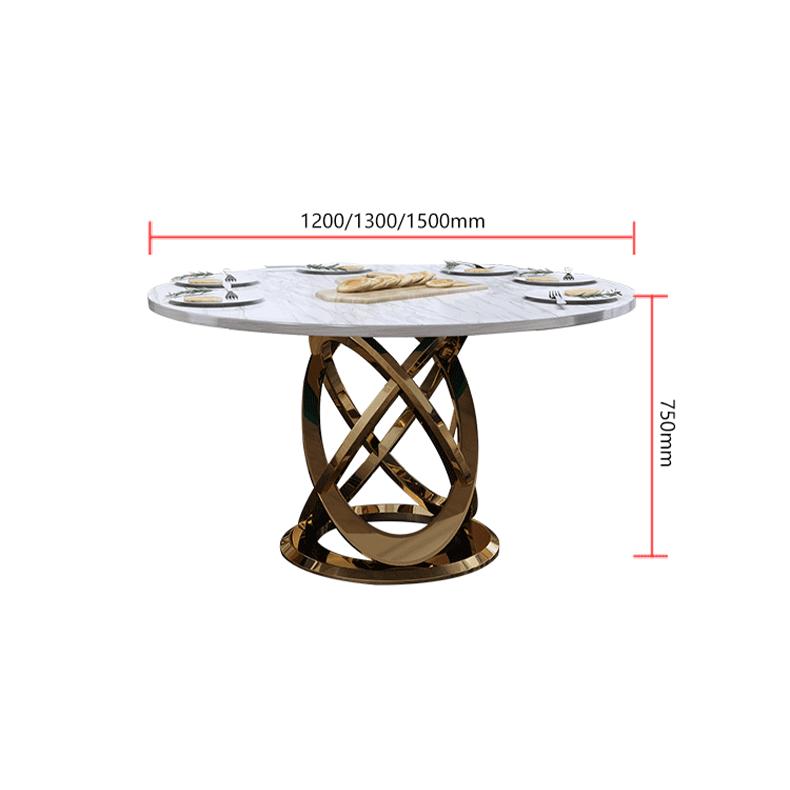 โต๊ะกินข้าวหินอ่อนกลม